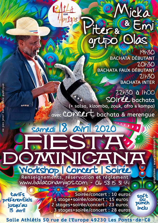 Fiesta Dominicana : soirée workshop, concert, danse du 18 avril 2020